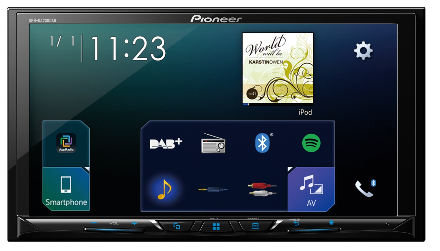 k b pioneer sph da230dab carplay dab radio og bluetooth til 3492 vejl 4999 med prismatch. Black Bedroom Furniture Sets. Home Design Ideas
