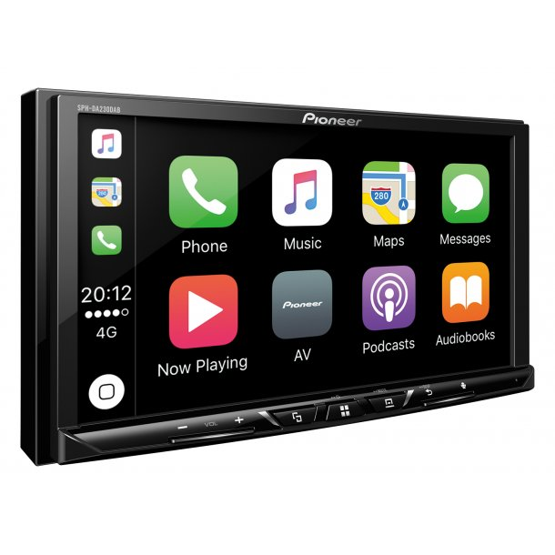 Pioneer SPH-DA230DAB CarPlay, DAB radio og Bluetooth
