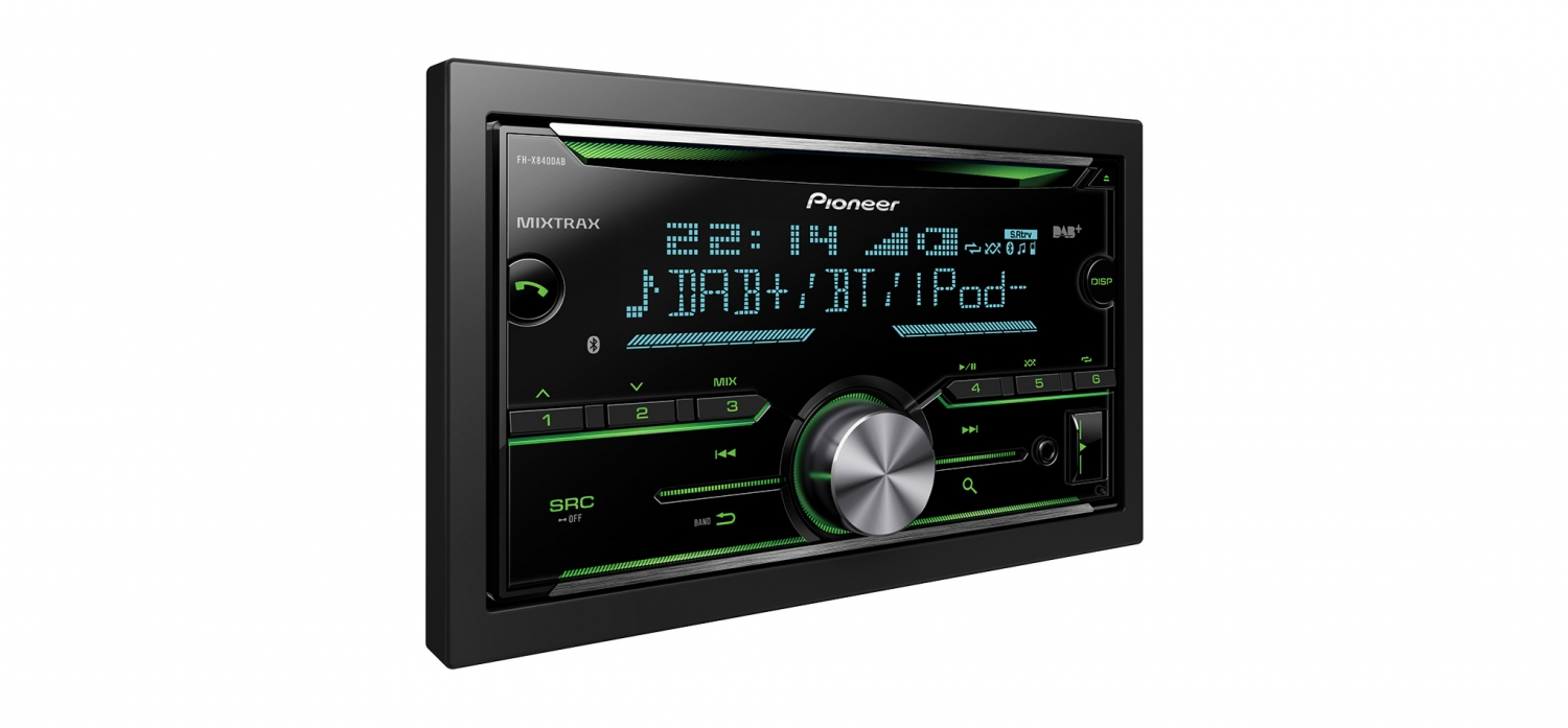 k b pioneer fh x840dab dab radio bluetooth til 1589. Black Bedroom Furniture Sets. Home Design Ideas