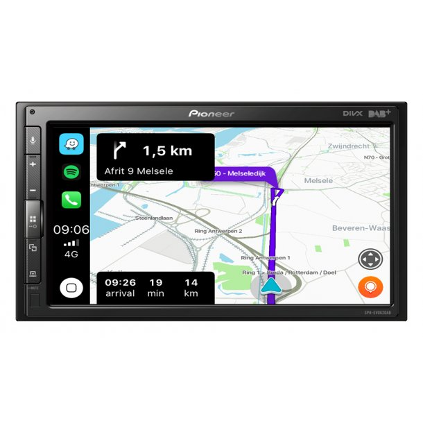 Pioneer SPH-EVO62DAB-CLIO CarPlay, DAB radio og Bluetooth